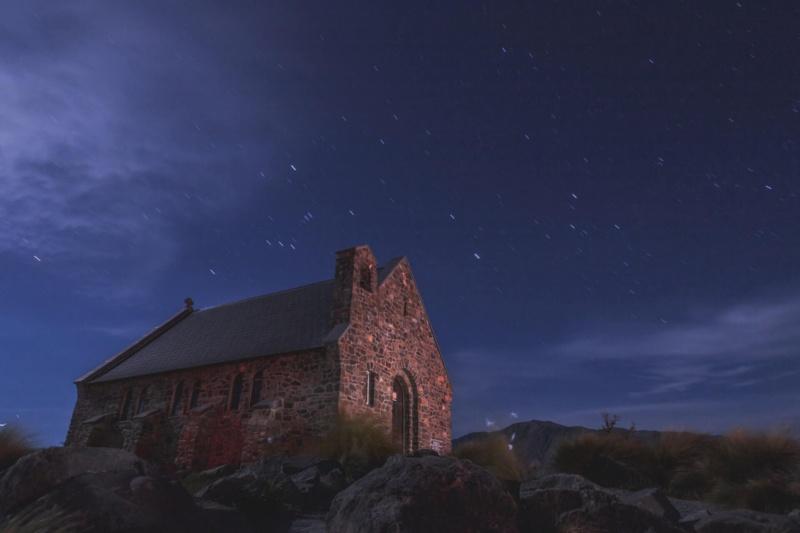 家と夜景の画像